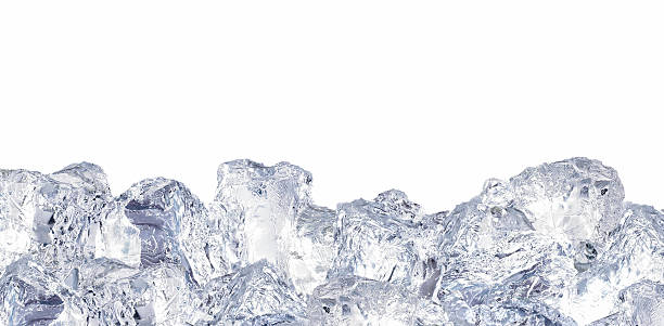 아이스 큐브 - 얼음 조각 뉴스 사진 이미지