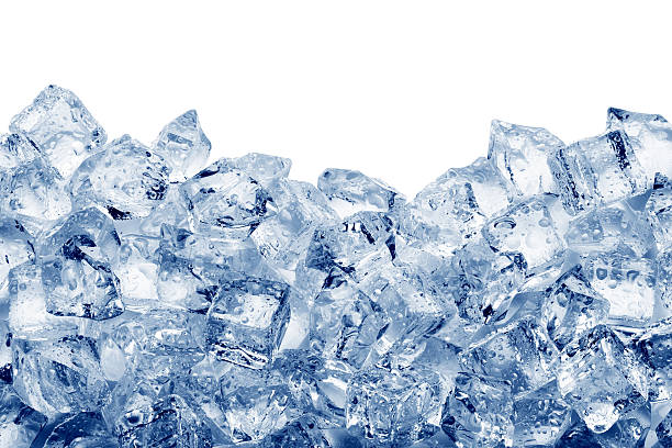 Ice cubes Ice cubes isolated on white background cooler container stock pictures, royalty-free photos & images