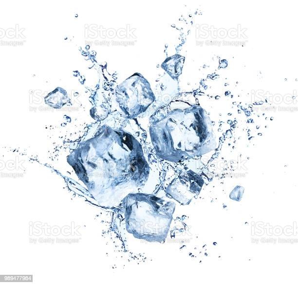 Photo of Ice Cubes Splashing - Cool Refreshing Crystals With Water Drops