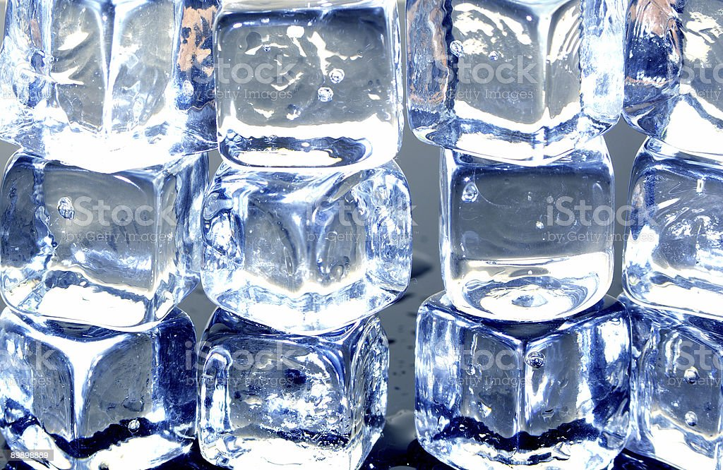 ice cubes wall royalty-free stock photo