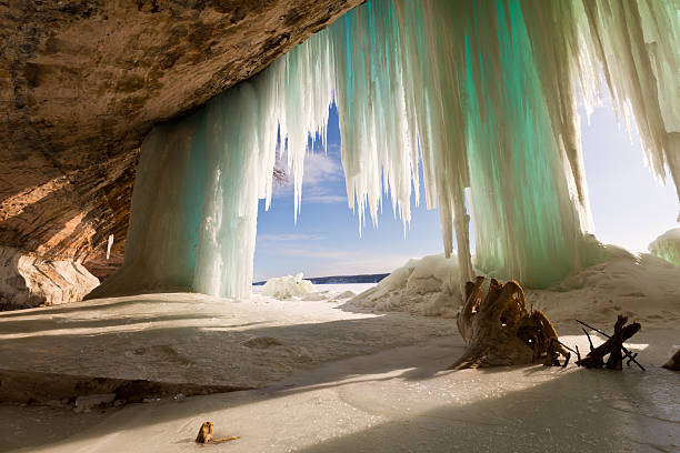 Ice Curtains on Grand Island - Lake Superior