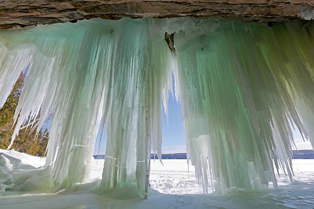 Ice Curtains on Grand Island near Munising Michigan