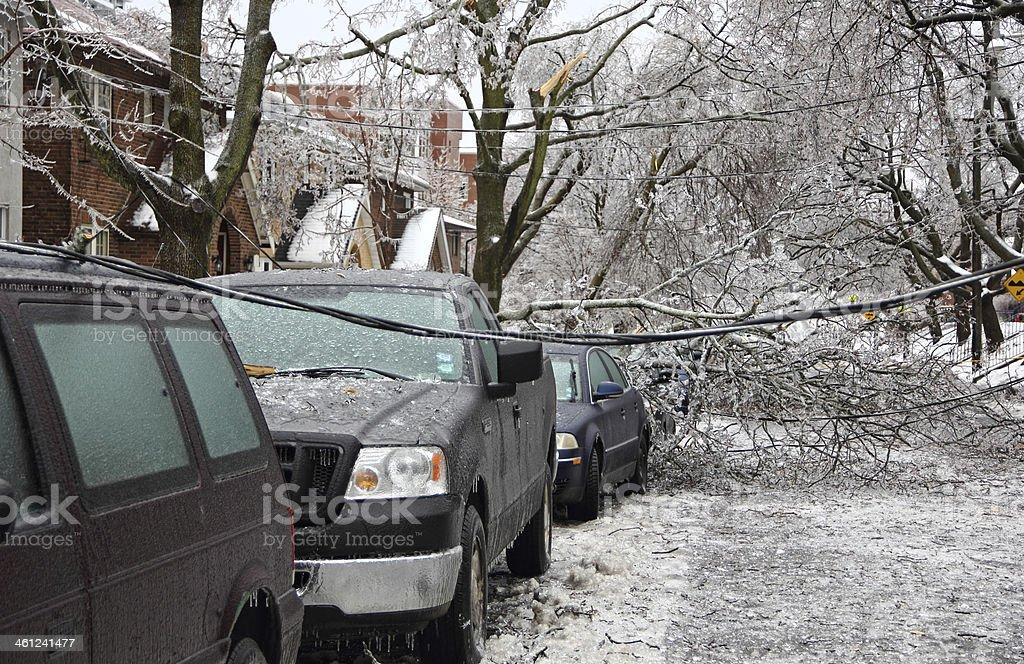 Ice Damages stock photo