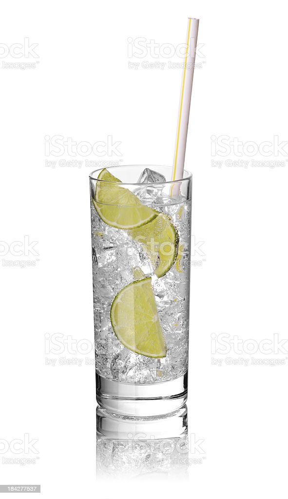 Ice drink with limes royalty-free stock photo
