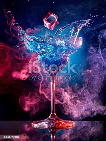 istock ice falling into splashing cocktail on multicolored background 906025850