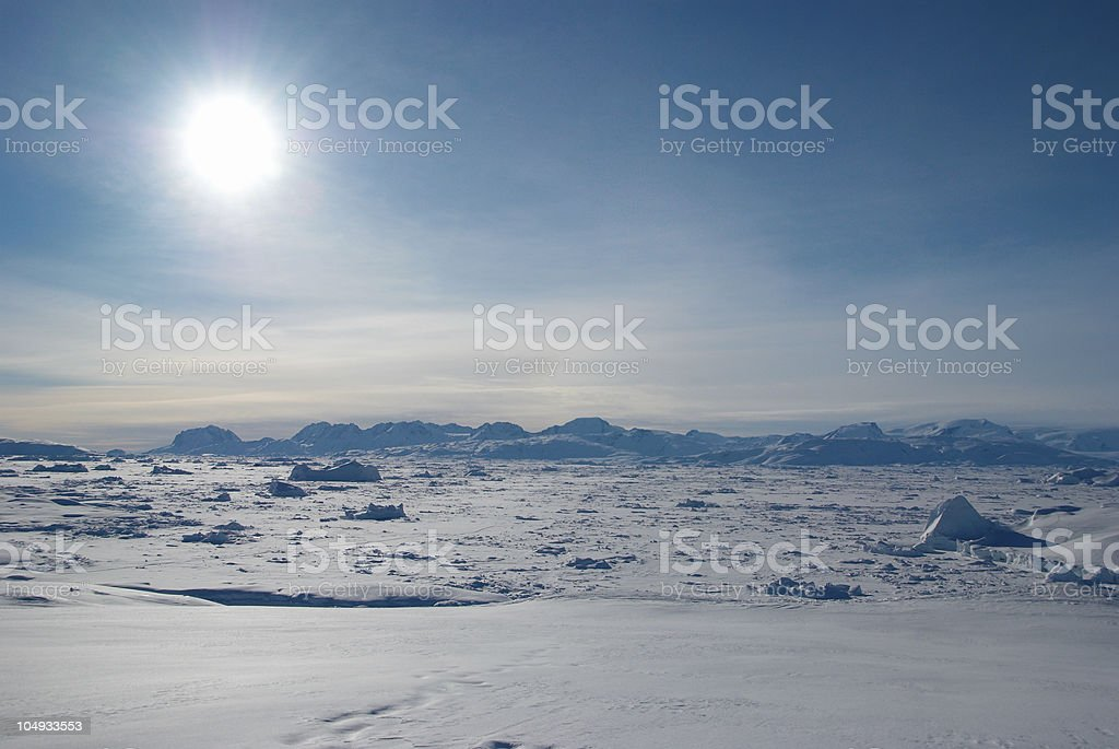 Ice field in Greenland royalty-free stock photo
