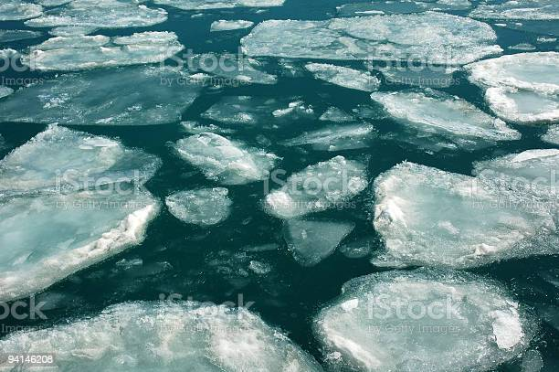 Photo of Ice field over the emerald water