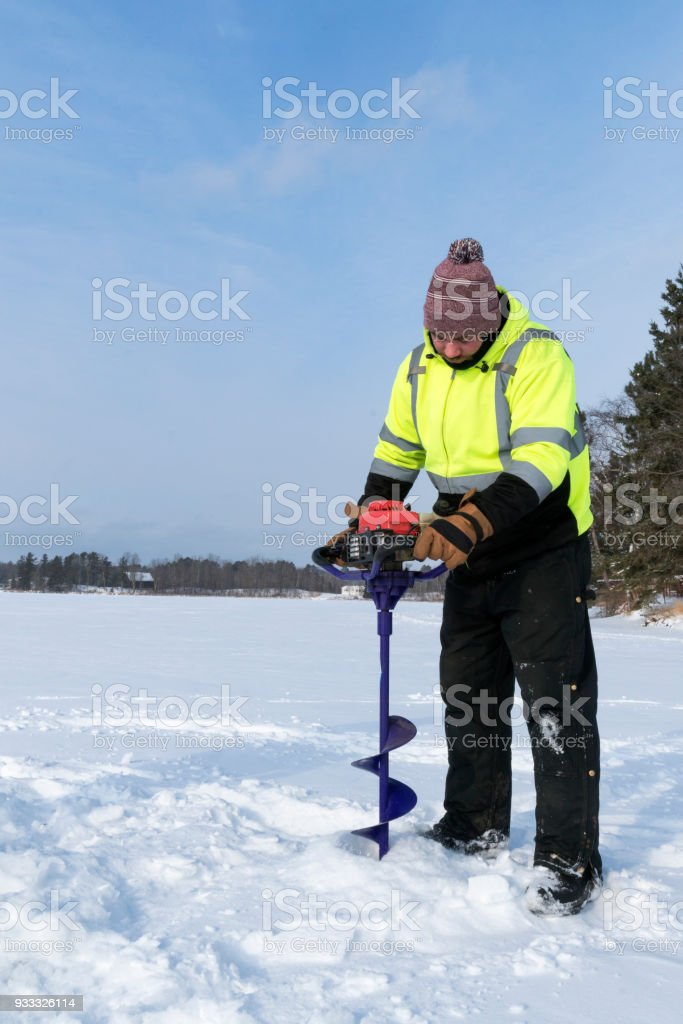 Ice Fishing Auger Stock Photo - Download Image Now - iStock