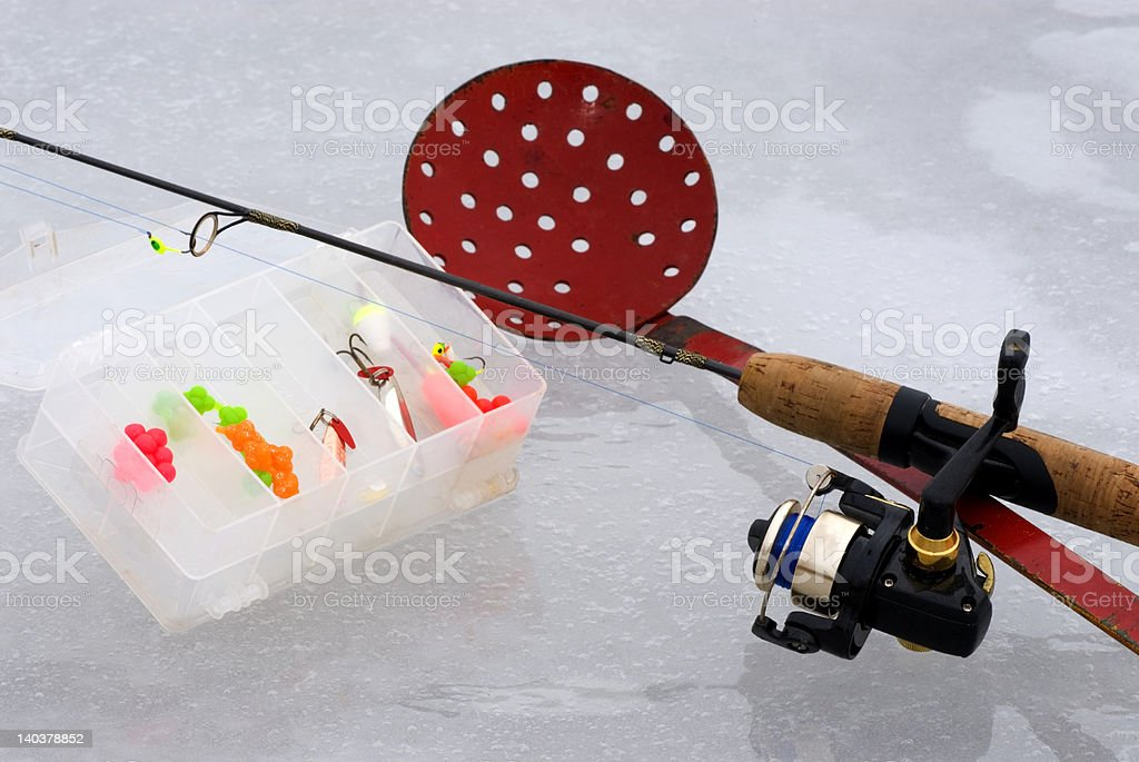 Ice Fishing Equipment stock photo