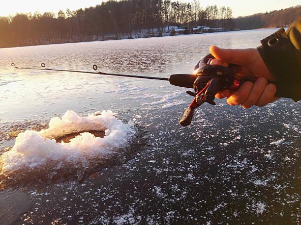 ice fishing - isvak bildbanksfoton och bilder