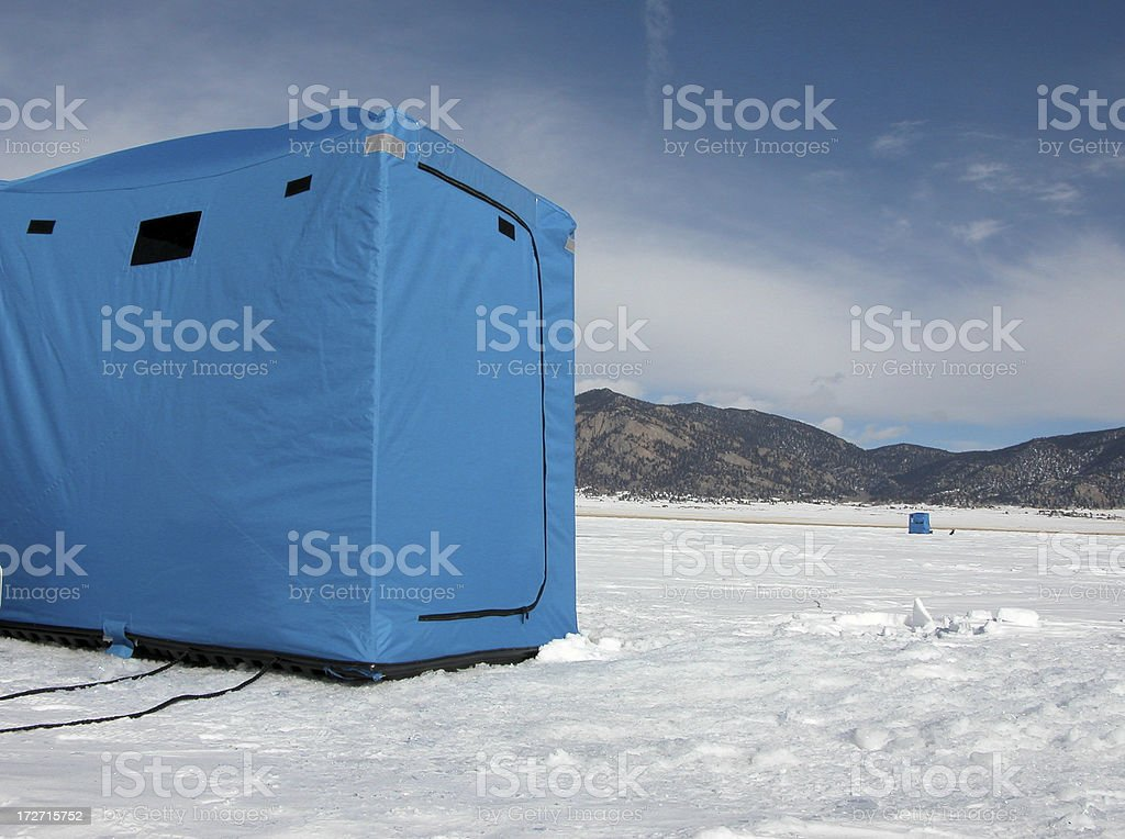 Ice Fishing Shelter royalty-free stock photo