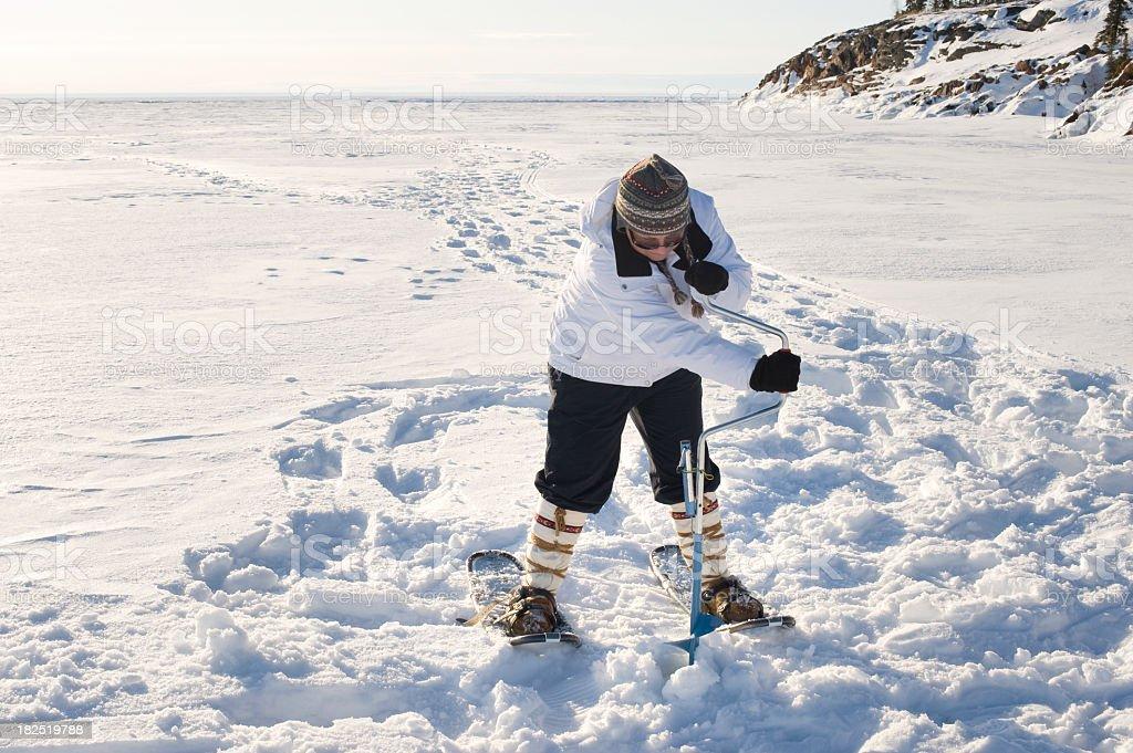 Ice Fishing, Yellowknife. royalty-free stock photo