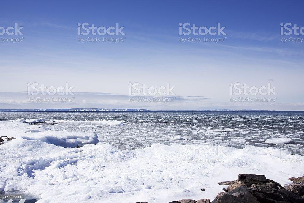Ice Floe at Georgian Bay royalty-free stock photo