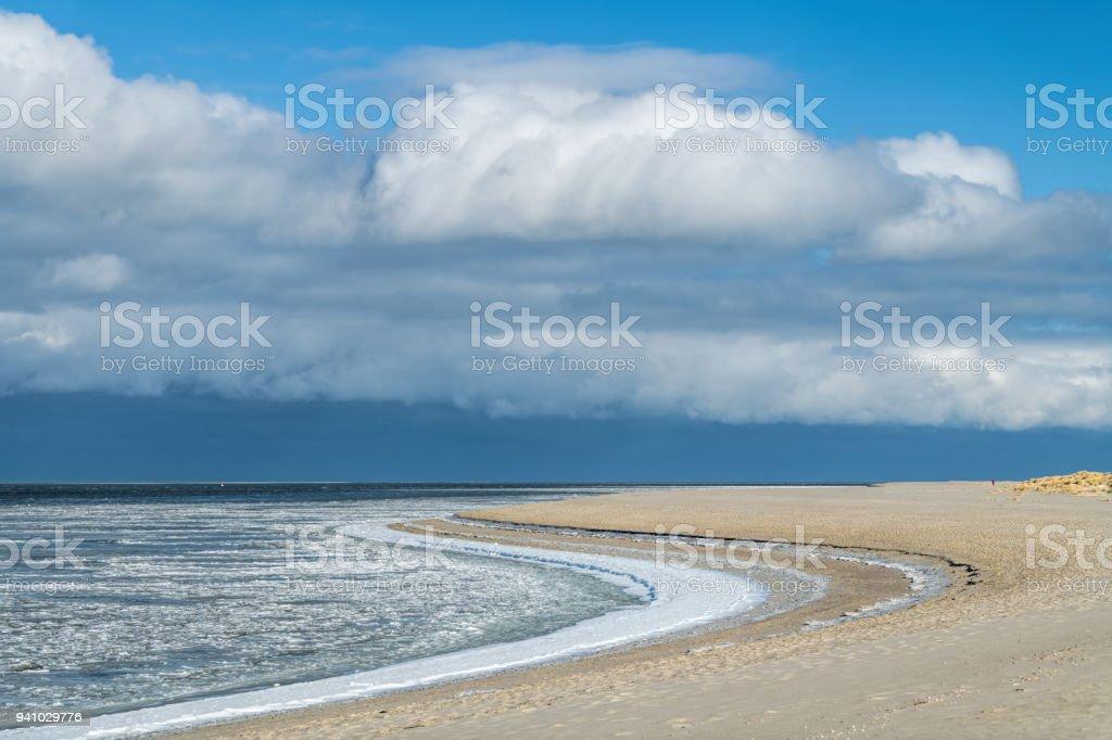 Ice Floe At The Coast Of Island Sylt Germany Stock Photo