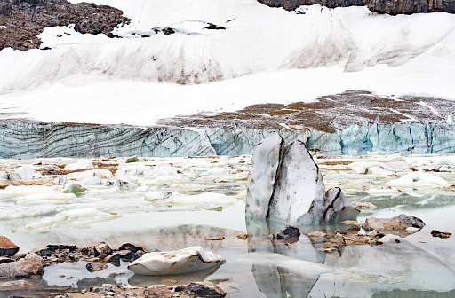 Ice Floe In Cavell Pond Jasper National Parkcanada Stock Photo - Download Image Now