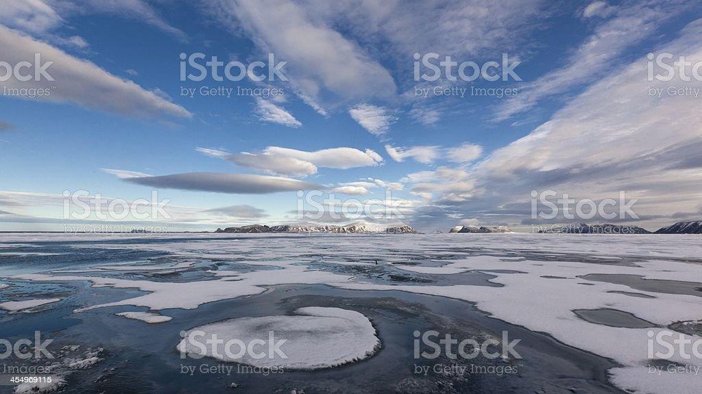 ice floe stock photo