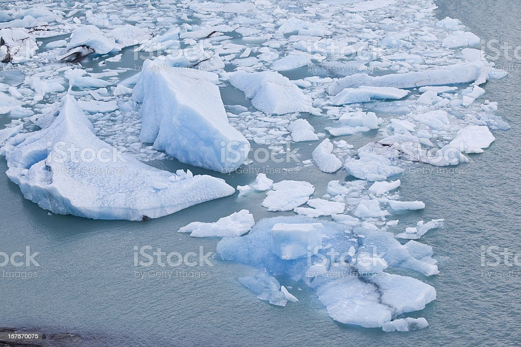 Ice floes at Glacier Perito Moreno in Argentina, Patagonia royalty-free stock photo