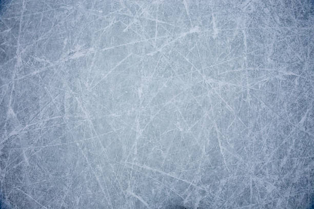 Ice floor with scratches from hockey and skating ice background with marks from skating and hockey ice rink stock pictures, royalty-free photos & images