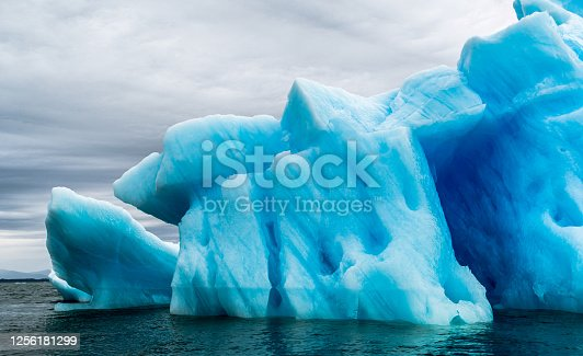 istock Ice Formation in Antarctica. Just beyond the Gerlache Straits is where this Ice Garden exists 1256181299
