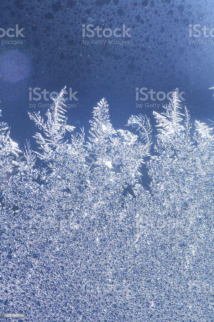 ice frost window stock photo