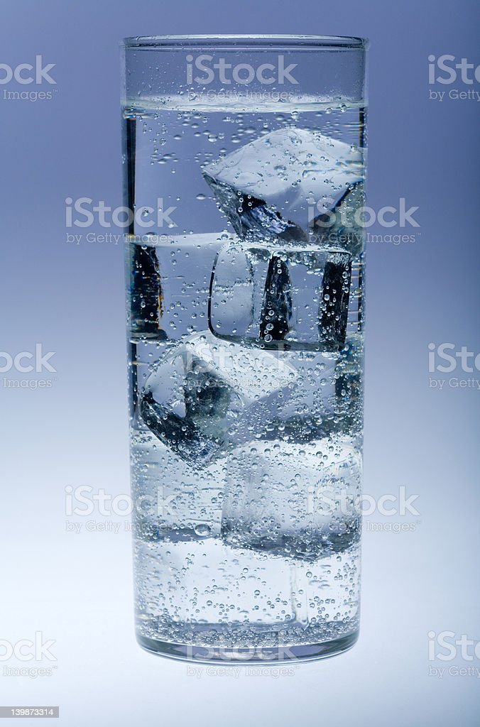 Ice, glass, water and bubbles royalty-free stock photo