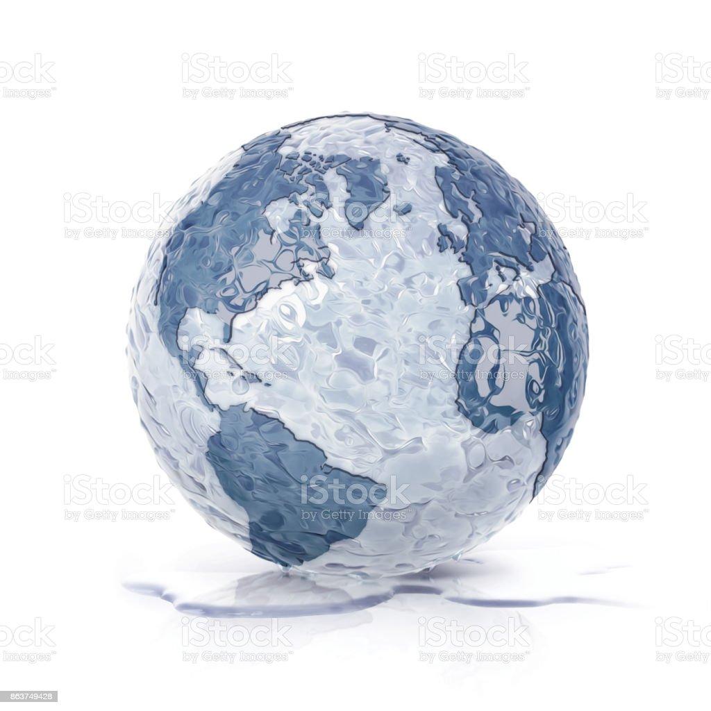 mundo de hielo del norte y América del sur mapa sobre fondo blanco - foto de stock