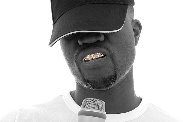 Ice grill A rapper. gold teeth bling stock pictures, royalty-free photos & images