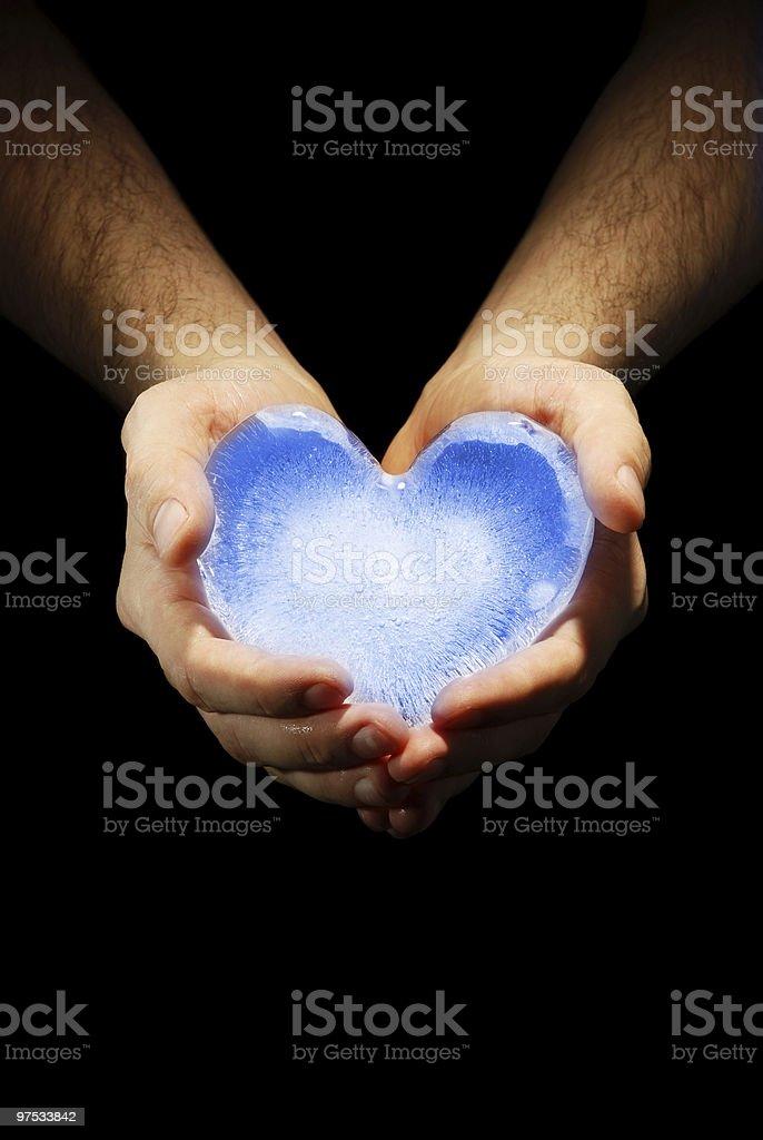 Ice heart royalty-free stock photo