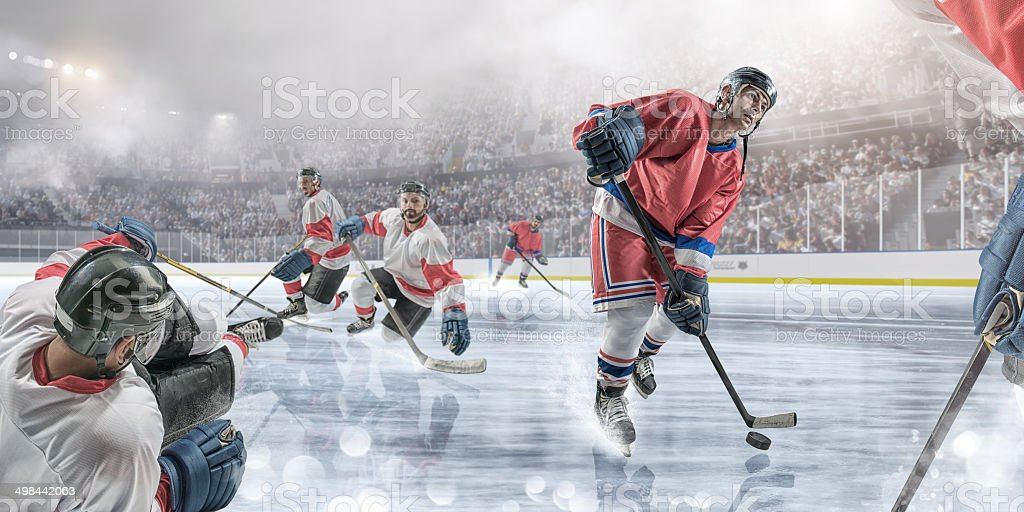 Ice Hockey Action stock photo