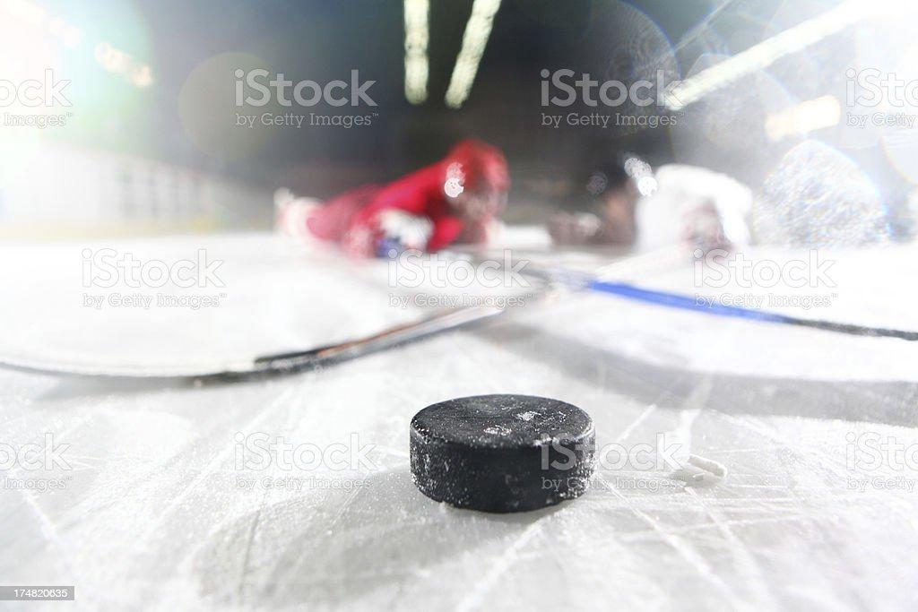 Ice hockey duel. royalty-free stock photo