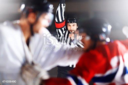 istock Ice hockey fight. 474356490