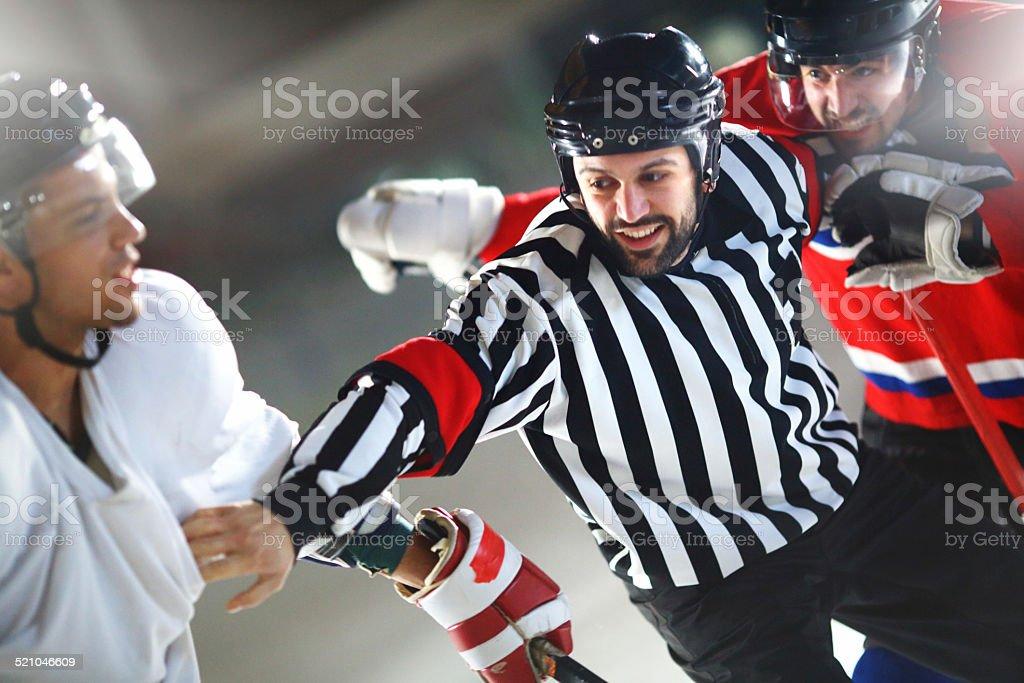 Ice hockey fight. stock photo
