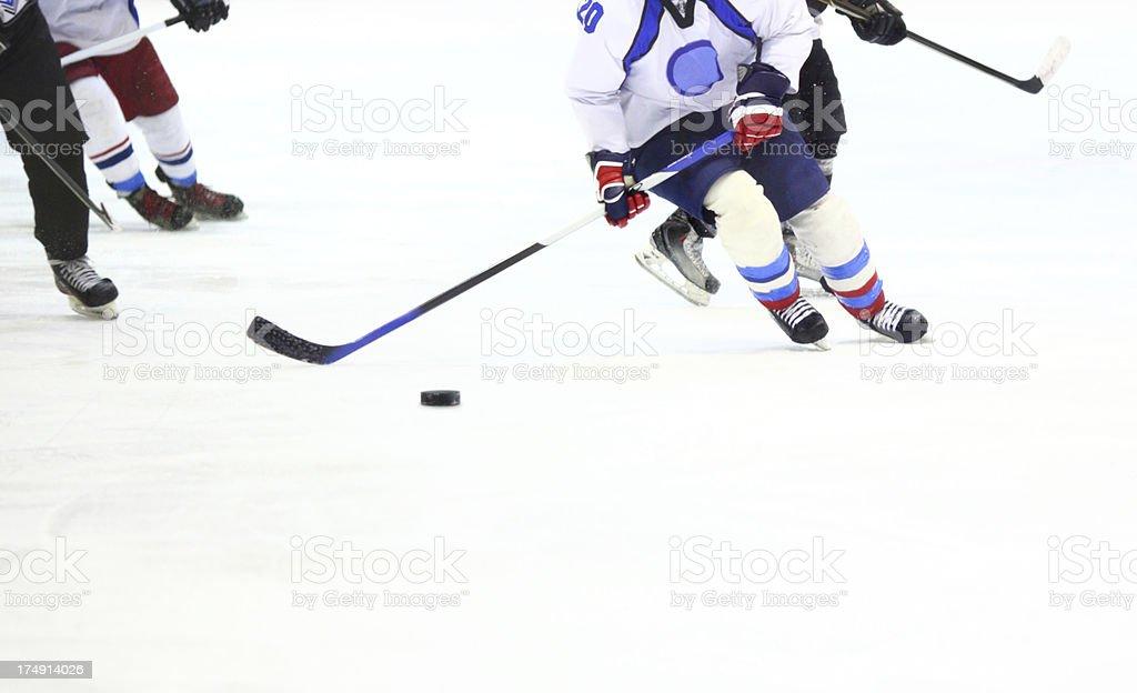Ice hockey game detail. royalty-free stock photo