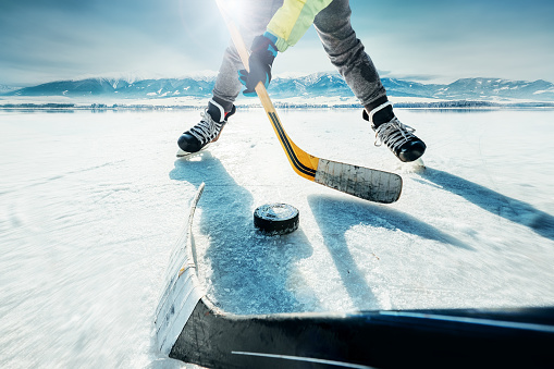 istock Ice hockey game moment 849841322