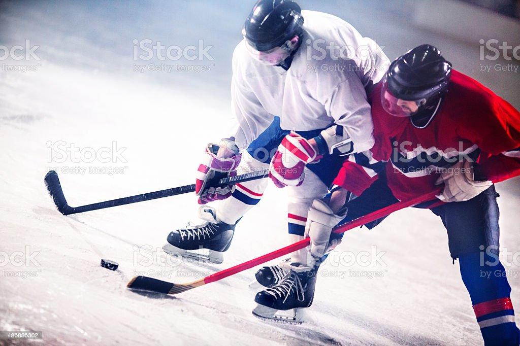 Ice hockey game. stock photo