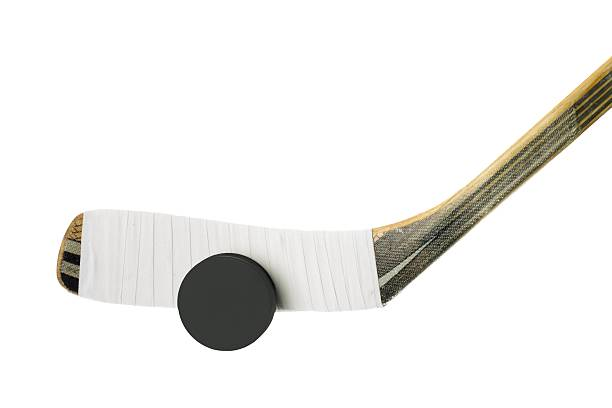 ice hockey game - hockey puck stock photos and pictures