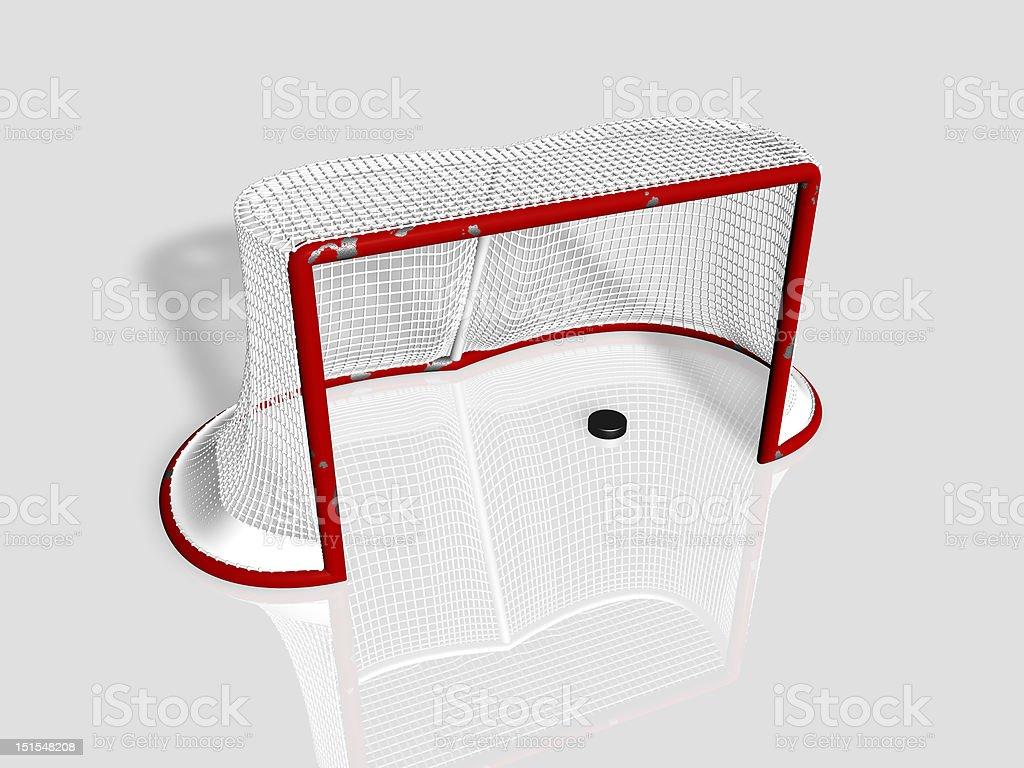 Ice Hockey Goal royalty-free stock photo