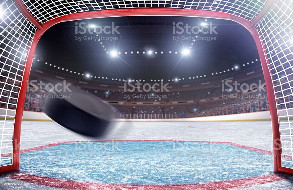 Ice Hockey Goal stock photo