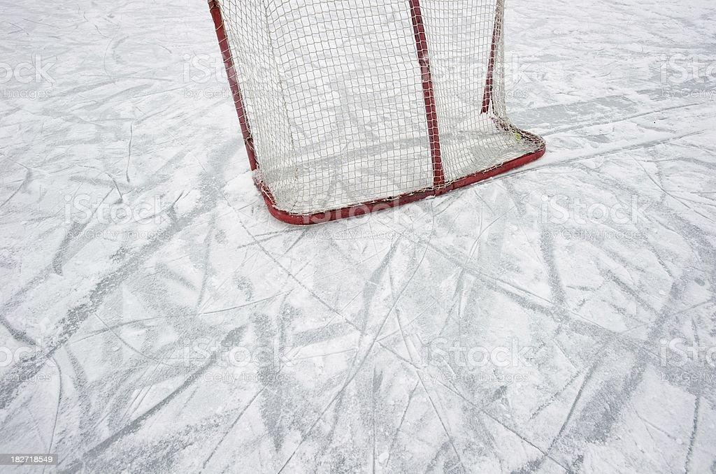 Ice Hockey Net royalty-free stock photo