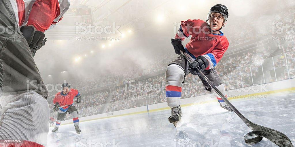 Ice Hockey Player Action stock photo