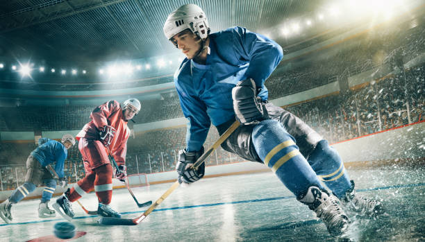 Eishockeyspieler in Aktion – Foto