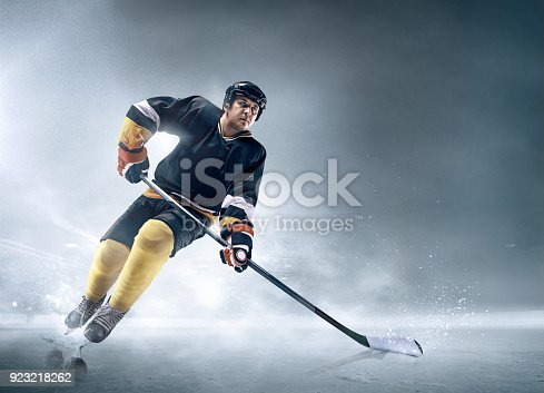 istock Ice hockey player in action 923218262