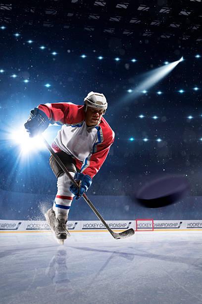 Eis hockey-Spieler auf der Eis Arena – Foto
