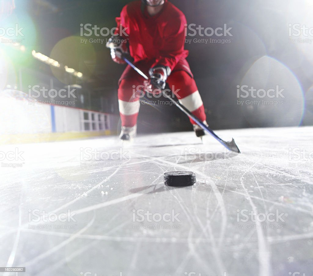 Ice hockey player. royalty-free stock photo