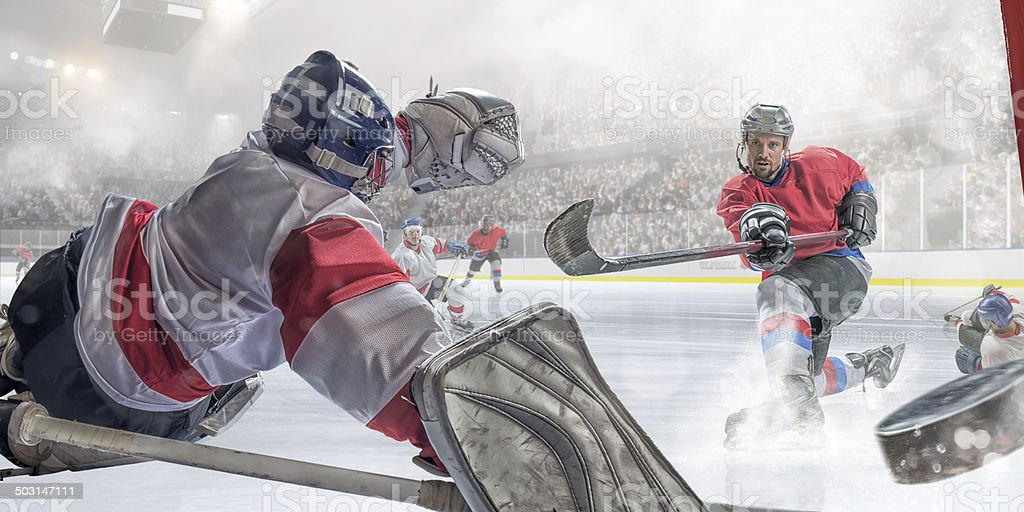 Ice Hockey Player-Punkten – Foto