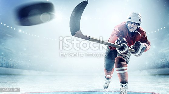 istock Ice hockey players in action 495211942