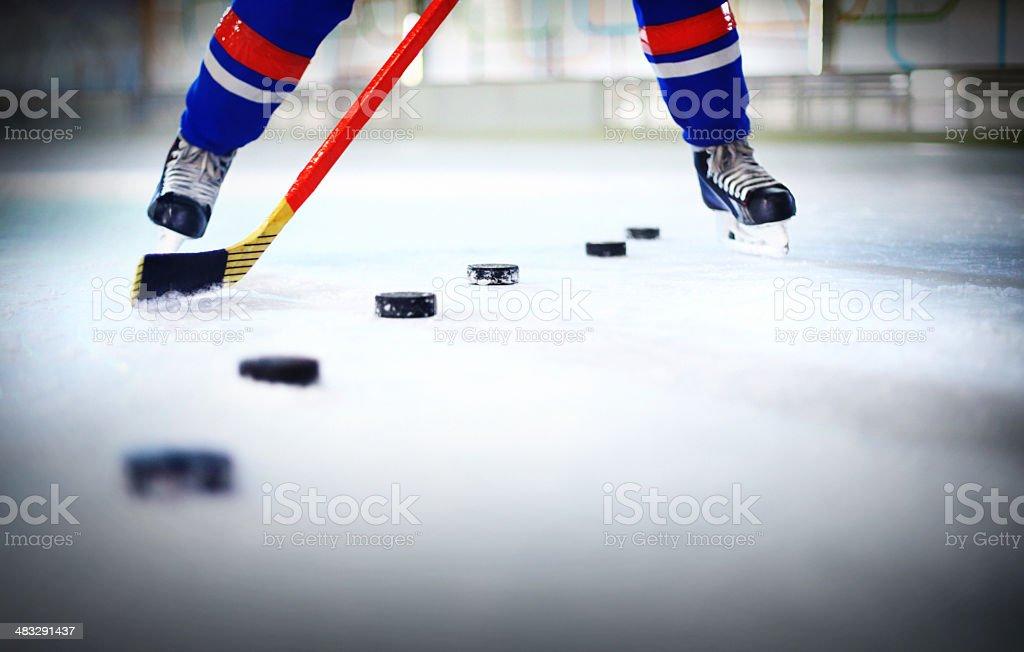 Ice hockey practice. royalty-free stock photo