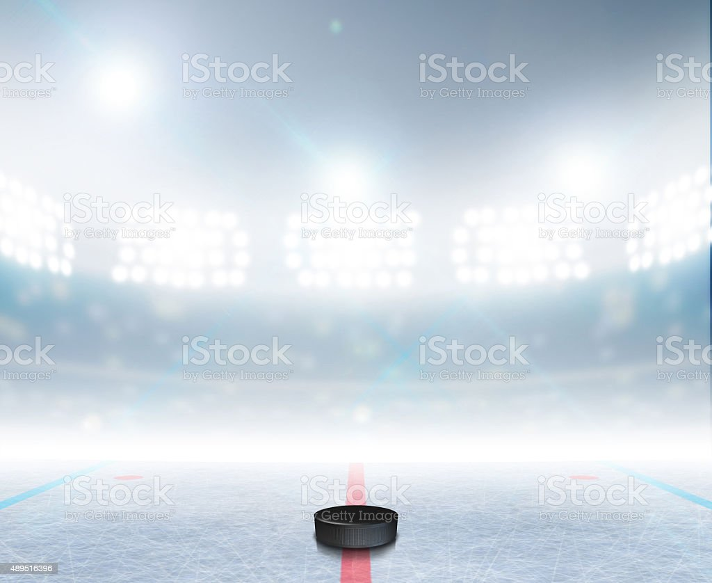 Estadio de Hockey sobre hielo - foto de stock