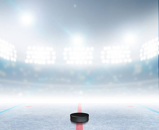 ice hockey rink stadium - hockey stock pictures, royalty-free photos & images