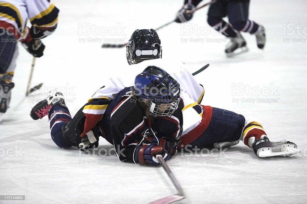 Ice hockey tussle stock photo